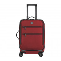 "LEX 20"" Maleta roja expandible, carry on, 8 ruedas, nylon, [32340103] *"