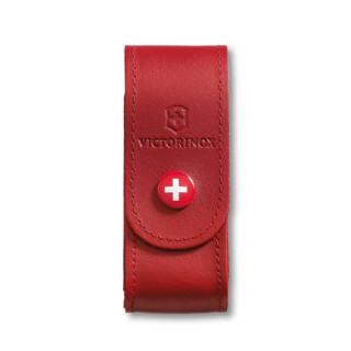 Funda de piel roja con botón para modelos 91 mm (2 a 4 capas) [4.0520.1] *