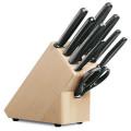 Block de cuchillos, soporte con 9 piezas, negro [5.1193.9] :