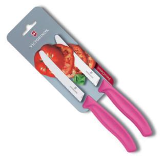 Set cuchillos SwissClassic dentados para jitomate punta redonda, hoja de 11 cm [6.7836.L115B] :