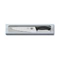Cuchillo SC de cocina, troquelado, 25cm, negro, caja [6.8023.25G] .