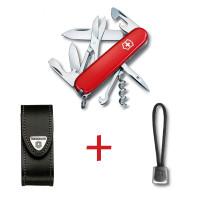 SwissPack Climber + Funda de Piel + Cordón [C-LBoLBr] :