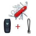 SwissPack Explorer rojo + Funda de Nylon + Cordón [Ex-NB] :