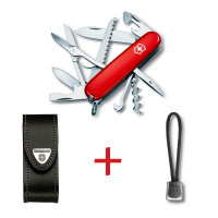 SwissPack Huntsman + Funda de Piel + Cordón [H-LBoLBr] :