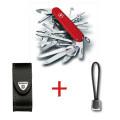 SwissPack SwissChamp + Funda de piel + Cordón [SC-LBoLBr] |