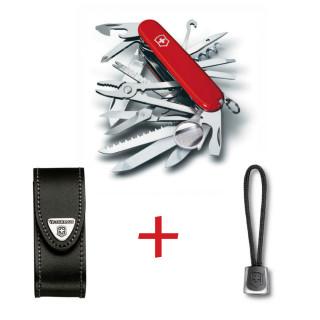 SwissPack SwissChamp + Funda de piel + Cordón [SC-LBoLBr] :