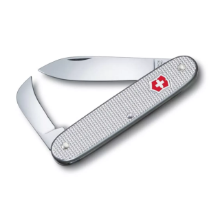 SWISS ARMY 2 ALOX, 93 MM, PLATA ESTRIADO :