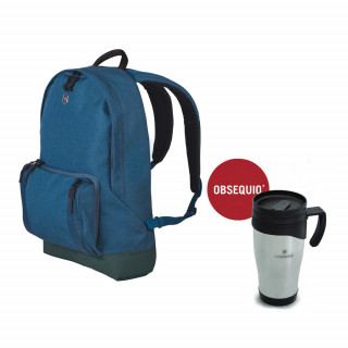 CLASSIC LAPTOP BACKPACK CON TAZA TÉRMICA