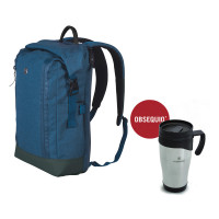 ROLLTOP LAPTOP BACKPACK CON TAZA TÉRMICA