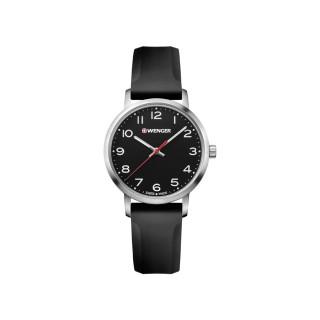 Reloj Wenger Avenue Dama / Negro / Acero / Silicón [01.1621.101] ^