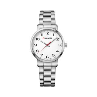 Reloj Wenger Avenue Dama / Blanco / Acero / Acero [01.1621.104] ^