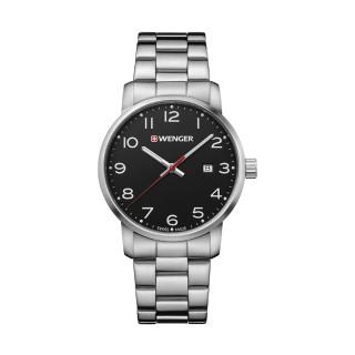 Reloj Wenger Avenue Caballero / Negro / Acero / Acero [01.1641.102] ^