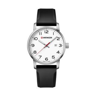 Reloj Wenger Avenue Caballero / Blanco / Acero / Silicón [01.1641.103] ^