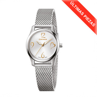 CITY VERY LADY Ø34 Silver dial, Mesh - Wenger