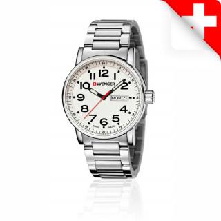 Reloj Wenger Attitude Day Date Caballero Acero [01.0341.102.00] ^