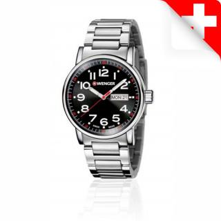 Reloj Wenger Attitude Day Date Caballero Acero [01.0341.104.00] ^