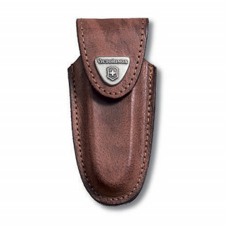 Funda de piel marrón para modelos 91 mm (2 a 4 capas) [4.0533] ^