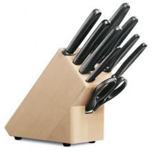 Block de cuchillos, soporte con 9 piezas, negro [5.1193.9] …
