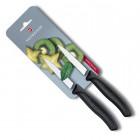 Set de 2 cuchillos SwissClassic dentados para verduras, hoja de 8 cm, negro [6.7633.B] *